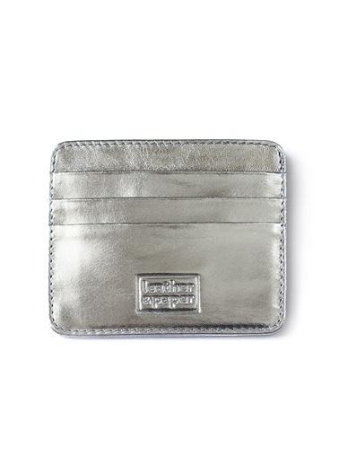 Leather & Paper Deri Kredi Kartlık Gümüş